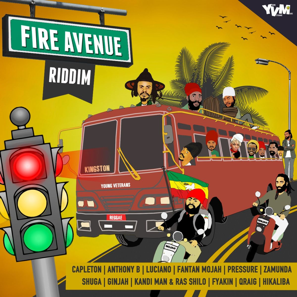 "Stream ""Fire Avenue"" Riddim by Luciano, Ginjah, Capleton and more"